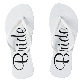 Wedding Day Bride Flip Flops