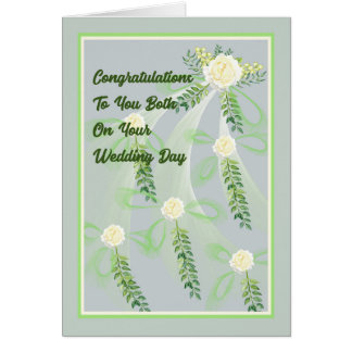 Wedding Day Card with Roses