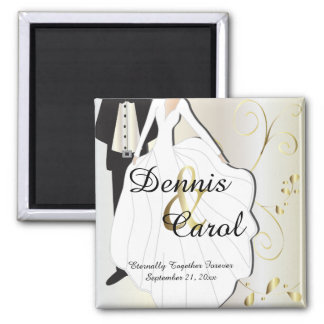 Wedding Day Keepsake for that Special Day Square Magnet