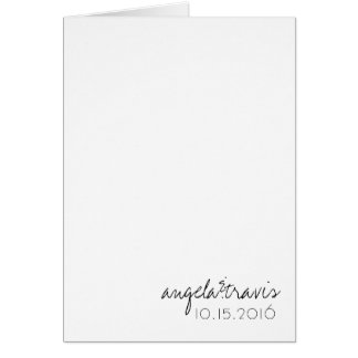 Wedding 'DAY OF' Agenda (Timeline) Card