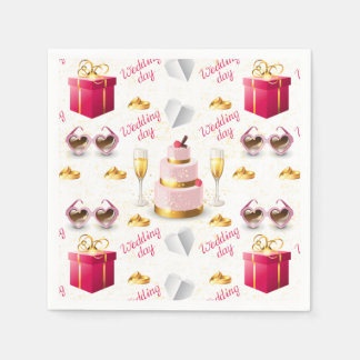 Wedding Day Pattern Paper Napkins