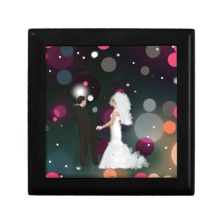 Wedding day small square gift box