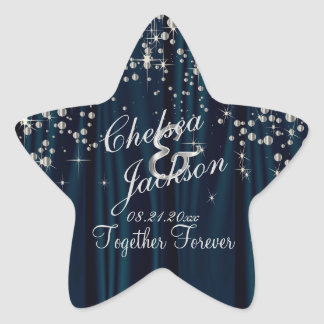 Wedding Day Starry Night | Personalize Star Sticker