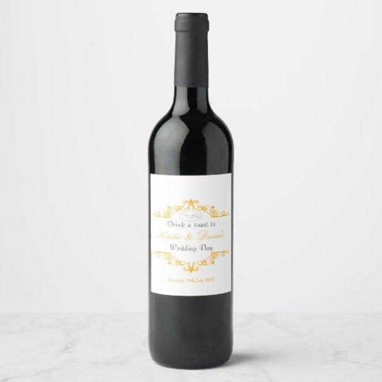 Wedding Day Wine Label