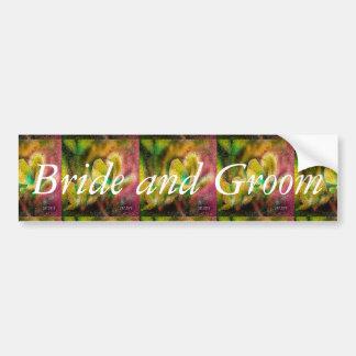 "Wedding Design""Bride and Groom"" Bumper Sticker"