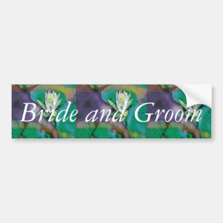 "Wedding Design""Bride and Groom"" Bumper Sticker"
