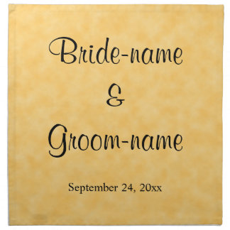 Wedding Design in Yellow and Black. Napkin
