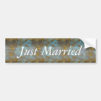 "Wedding Design""Just Married"" Bumper Sticker"
