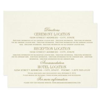 Wedding Details Card | Antique Gold