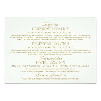 Wedding Details Card | Antique Gold 11 Cm X 16 Cm Invitation Card