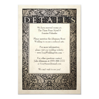 Wedding Details Card | Champagne Ivy Collection