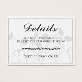 Wedding Details Card - Custom - Simple - Elegant