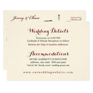 Wedding Details Enclosure Card Reception Map