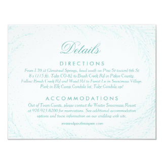 Wedding Details // Winter Wonderland 11 Cm X 14 Cm Invitation Card