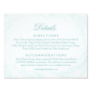 Wedding Details // Winter Wonderland 11 Cm X 14 Cm Invitation Card