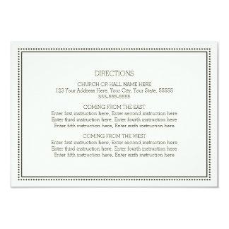 Wedding Direction Cards Black and White Vintage 9 Cm X 13 Cm Invitation Card