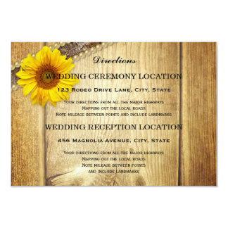 "Wedding Directions & Accommodation Insert Card 3.5"" X 5"" Invitation Card"