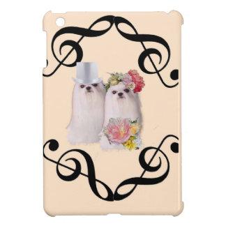 Wedding dog with music iPad mini cases