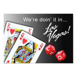 Wedding - Doing it in Las Vegas black 13 Cm X 18 Cm Invitation Card