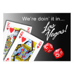 Wedding - Doing it in Las Vegas black Personalized Announcement
