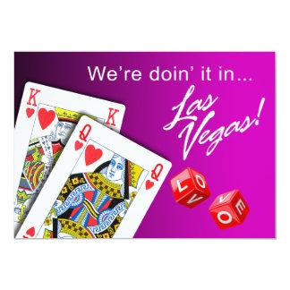 Wedding - Doing it in Las Vegas purple 13 Cm X 18 Cm Invitation Card