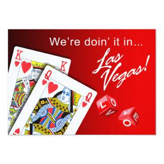 Wedding - Doing it in Las Vegas red 13 Cm X 18 Cm Invitation Card