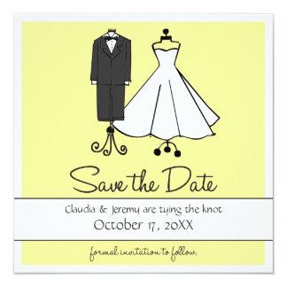 Wedding Doodles   Save the Date 13 Cm X 13 Cm Square Invitation Card