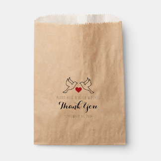 Wedding Dove Favor Bags - Love Birds - Rustic Bag