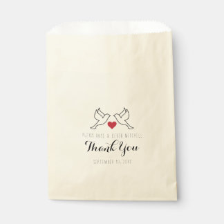 Wedding Dove Favor Bags - Love Birds - Treat Bags