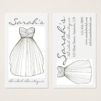 Wedding Dress Bride Gown Bridal Shop Boutique Business Card