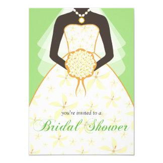 Wedding Dress Custom Bridal Shower Invites Green