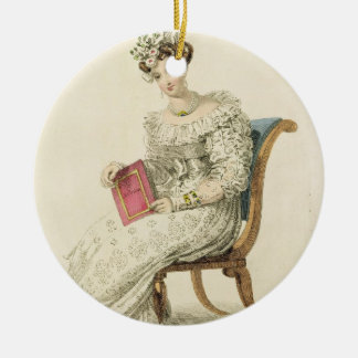 Wedding dress, fashion plate from Ackermann's Repo Christmas Ornament