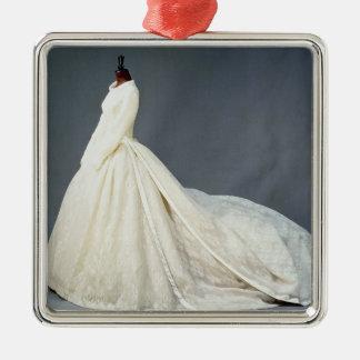 Wedding dress of Katharine Worsley Christmas Ornament