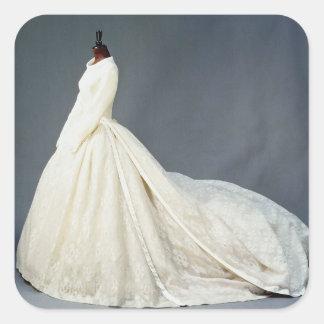 Wedding dress of Katharine Worsley Square Sticker