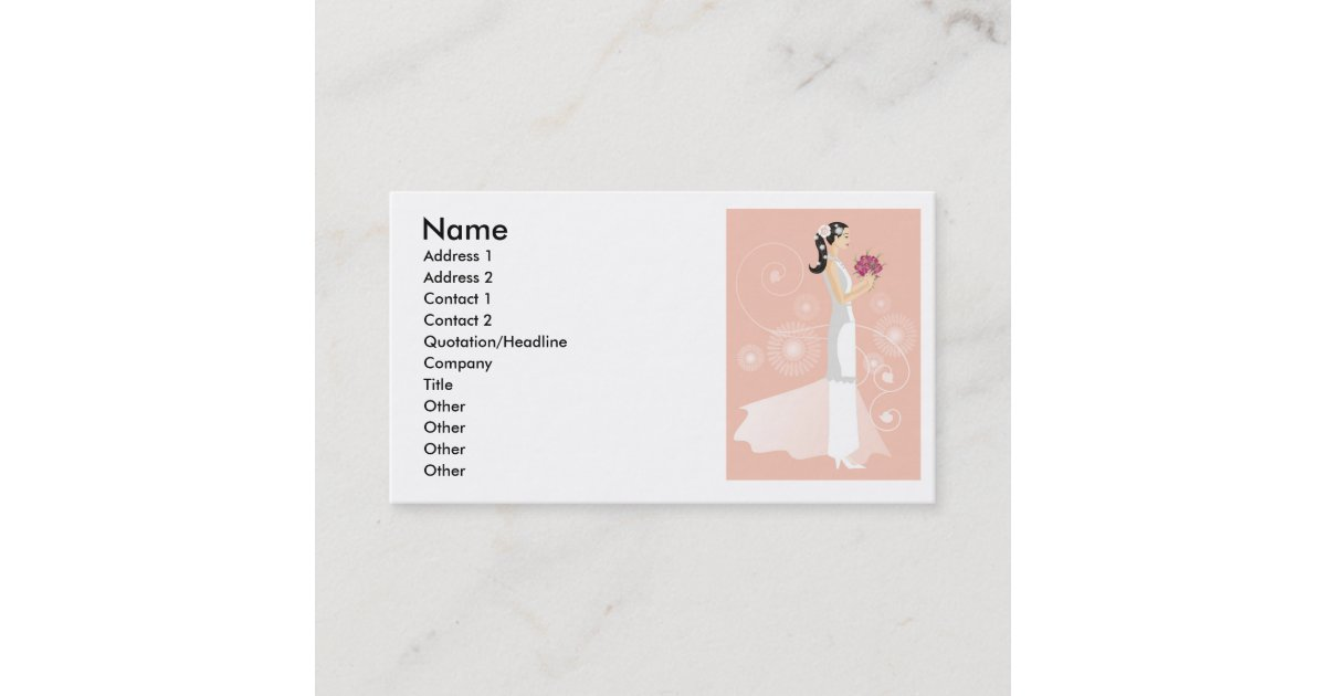 Wedding dress or bridal boutique business card zazzle reheart Gallery