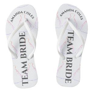 7e43238031610 Wedding Dress patten  Team Bride Flip flops
