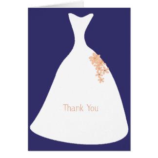 Wedding Dress Purple Thank You Note card