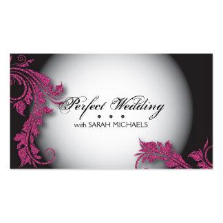 Wedding Dress Shoppe Business Card Fancy Glitter