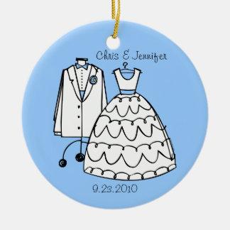 Wedding Dress & Tux Personalized Ornament