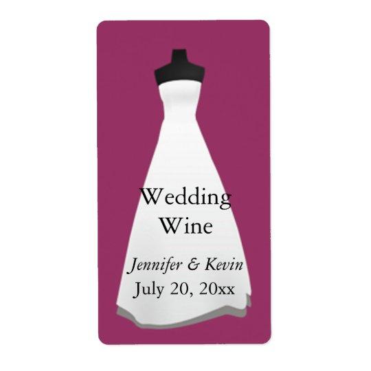 Wedding Dress Wedding Mini Wine Label Shipping Label