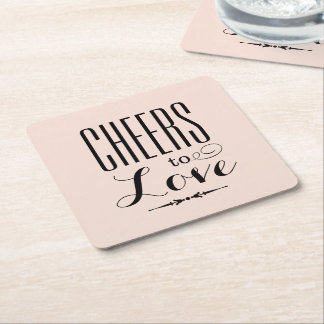 Wedding Drink Coasters | Cheers to Love