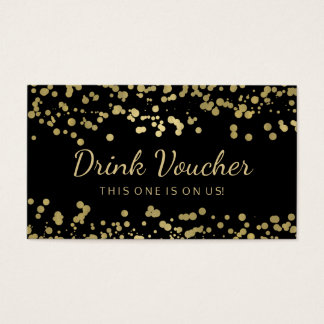 Wedding Drink Voucher Gold Foil Confetti