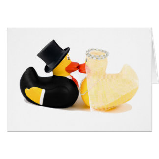 Wedding ducks 2 greeting card