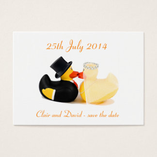 Wedding ducks 2 ... Save the date