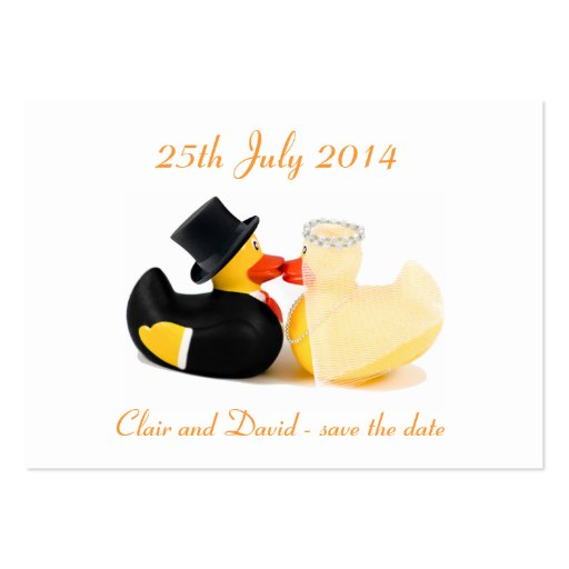 Wedding ducks 2 ... Save the date Business Card Template