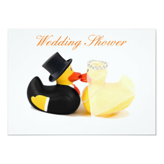 Wedding ducks 2 - Wedding Shower 13 Cm X 18 Cm Invitation Card