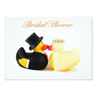Wedding ducks 3 - Bridal Shower 13 Cm X 18 Cm Invitation Card
