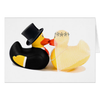 Wedding ducks 3 greeting card