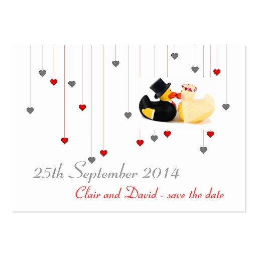Wedding ducks 4 ... Save the date Business Card Template