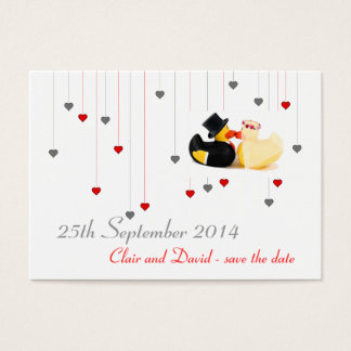 Wedding ducks 4 ... Save the date Business Card